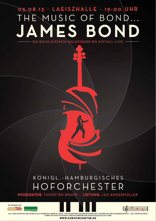 hamburg orchestra james bond poster barry s crosbie graphic design portfolio. Black Bedroom Furniture Sets. Home Design Ideas